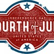 Vintage 4th of July Sign — Imagen vectorial