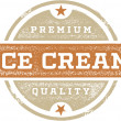 Vintage Style Ice Cream Stamp — Stock Vector