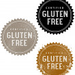 Certified Gluten Free Product or Menu Stamps - Stock Vector