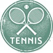 Vintage Style Tennis Sport Stamp — Stock Vector