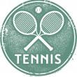 Vintage Style Tennis Sport Stamp — Stock Vector #24695441
