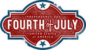 Vintage 4th of July Sign — Stock Vector