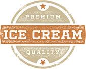 Vintage Style Ice Cream Stamp — Stock Vector