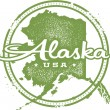 Vintage Alaska USA State Stamp — Stock Vector