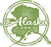 Vintage Alaska USA State Stamp — Stock Vector