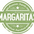 Margaritas Cocktail Stamp — 图库矢量图片