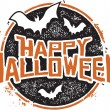 Happy Halloween Grunge Graphic — Stock Vector