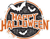 Happy Halloween Grunge Graphic — Stock Vector