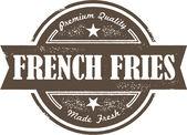 法式炸薯条邮票 — 图库矢量图片