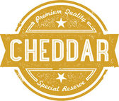 Cheddar Cheese Label — Stock Vector