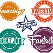 Amazing and Awesome Recognition Stamps — Stock Vector #42847523
