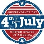 Постер, плакат: Fourth of July Independence Day USA