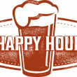 happy hour Biercafé — Stockvector  #42847771