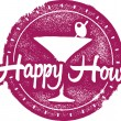 Happy Hour Bar Stamp — Stockvector