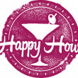 Happy Hour Bar Stamp — Stock Vector