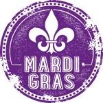 Mardi Gras Celebration Stamp — Stock Vector #42847841