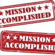 Mission Accomplished — Stock Vector