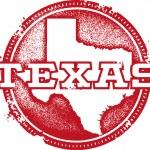Texas USA State Stamp — Cтоковый вектор