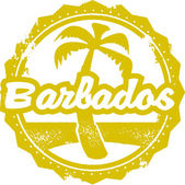 Barbados Travel Stamp — Stock Vector
