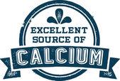 Calcium Healthy Nutrition Stamp — Stock Vector