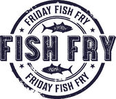 Friday Fish Fry Sign — Stock Vector