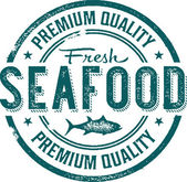 Premium Quality Fresh Seafood — Stock Vector