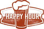 Happy Hour Beer Bar — Stock Vector