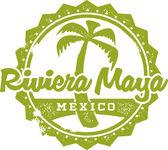 Riviera Maya Mexico Vacation Stamp — Stock Vector