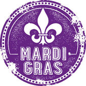 Mardi Gras Celebration Stamp — Stock Vector