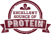 Excellent Source of Protein — Stock Vector