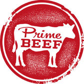 Prime Beef Menu — Stock Vector