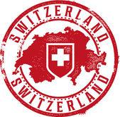 Carimbo de borracha da Suíça — Vetor de Stock