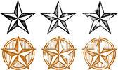Západní hvězdy prvky návrhu — Stock vektor