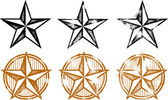 Western Stars Design Elements — Vettoriale Stock