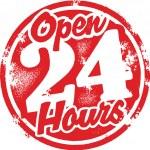 Open 24 Hours — Stock Vector #8086739