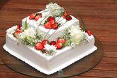 Tort weselny — Zdjęcie stockowe