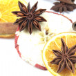 Christmas decoration - dried fruits — Stock Photo