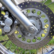 Front wheel of a motorcycle — Stock Photo #28778369