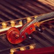 Stock Photo: Violin on duclimer