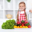 Healthy nutrition base - the vegetables — Stock Photo