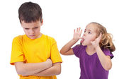 Mocking and teasing among children — Stock Photo