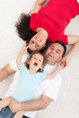 Happy family with a child — Stock fotografie
