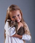 I love my kitten — Stock Photo