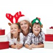 Happy christmas with presents — Stock Photo