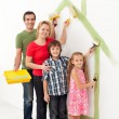 Family painting together — Stock Photo