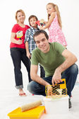 Family redecorating — Stock Photo
