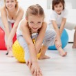 Gymnastic at home - Stock Photo