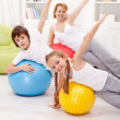 Healthy life concept with exercising — Stock Photo