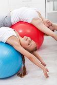 Stretching gymnastic exercise — Stock Photo