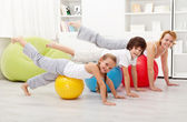 Doing stretching exercises — Stock Photo